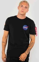 Bilar & motorcyklar|Motorcyklar  - Alpha Industries NASA Heavy T-Shirt Svart 2XL