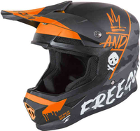 Bilar & motorcyklar  - Freegun XP4 Camo Motocross Hjälm Orange S